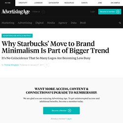 Starbucks Logo Example of Marketers Learning to Be Quiet | Small Agency Diary