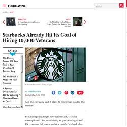 Starbucks Already Hit Its Goal of Hiring 10,000 Veterans