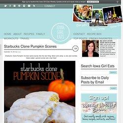 Starbucks Clone Pumpkin Scones