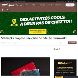 Starbucks propose une carte de fidélité Swarowski