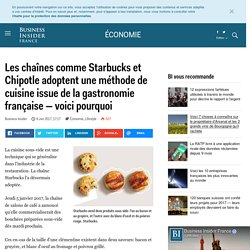 Les chaînes comme Starbucks et Chipotle adoptent une méthode de cuisine issue de la gastronomie française — voici pourquoi - Business Insider France