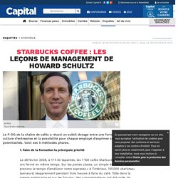 Starbucks Coffee : les leçons de management de Howard Schultz
