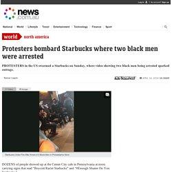 Starbucks: 'Black Lives Matter' protesters swarm coffee shop