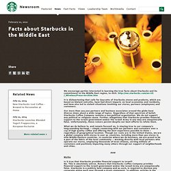 Facts about Starbucks in the Middle East