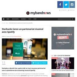 Starbucks lance un partenariat musical avec Spotify