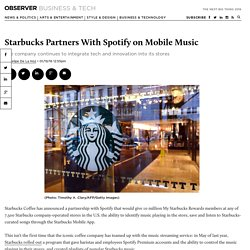 Starbucks Partners With Spotify on Mobile Music