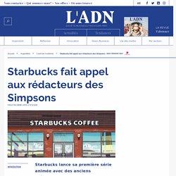 Starbucks brand content avec des rédacteurs des Simpsons
