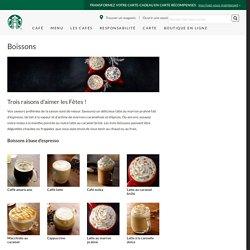 Une boisson Starbucks pour satisfaire vos papilles!