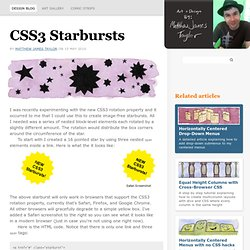 CSS Starbursts with CSS3 transforms and transitions