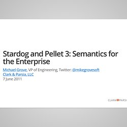 Stardog and Pellet 3: Semantics for the Enterprise