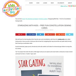 Stargazing With Kids - Free Fun Constellation Sewing Cards