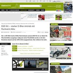 EGO Kit – starker E-Bike-Antrieb mit Rucksack-Akku bei elektrobike-online.com