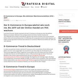 E-Commerce in Europa - Stärksten Wachstumsmärkten - 2017