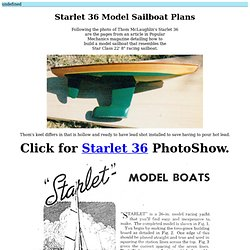 Starlet 36 model sailboat plans