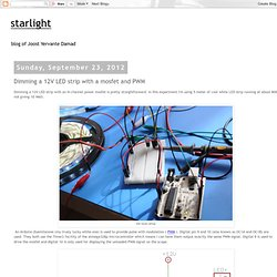 starlight: Dimming a 12V LED strip with a mosfet and PWM