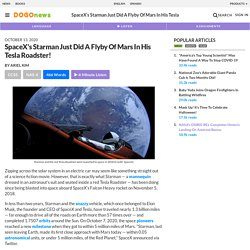 SpaceX's Starman Just Did A Flyby Of Mars In His Tesla Roadster! Kids News Article