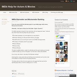 IMDb Starmeter and Moviemeter Ranking « IMDb Help for Actors & Movies