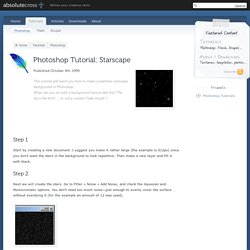 Starscape | Photoshop Tutorials | Absolute Cross