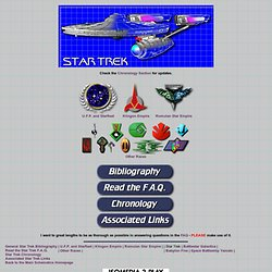 Starship Schematic Database - Star Trek
