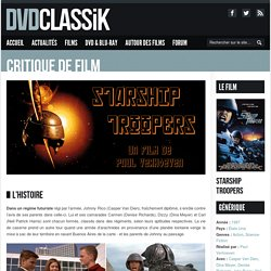 Starship Troopers de Paul Verhoeven (1997) - Analyse et critique du film