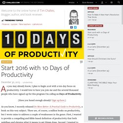 Start 2016 with 10 Days of Productivity