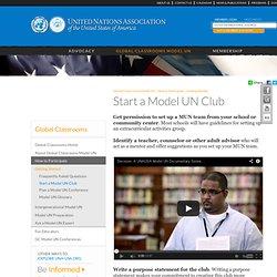 Start a Model UN Club