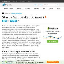 Start a Gift Basket Business