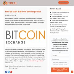 How to Start a Bitcoin Exchange Site