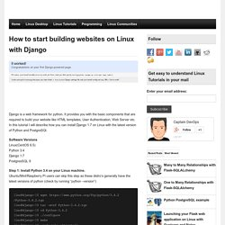 How to start building websites on Linux with Django -