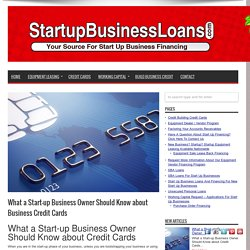 startup business credit cards