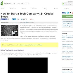 How to Start a Tech Company: 21 Crucial Steps