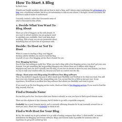How to Start a Blog - A Complete Guide to Setting up a Blog