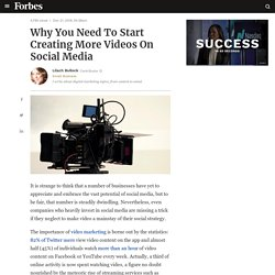 Why You Need To Start Creating More Videos On Social Media