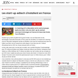 Les start-up edtech s'installent en France