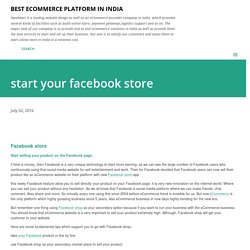 start your facebook store