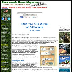 Start your food storage on $10 a week by Alan T. Hagan