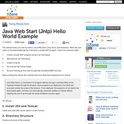 Java Web Start (Jnlp) Hello World Example