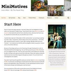 Start Here - MiniMotives