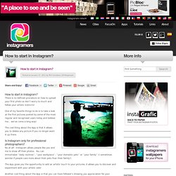 Instagram 3.0 (english): How to start in Instagram?
