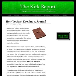 How To Start Keeping A Journal