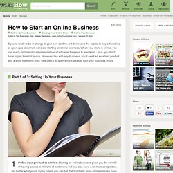 How to Start an Online Business: 4 Methods