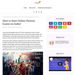 How to Start Online Fantasy Games in India?