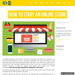 How to Start an Online Store - Tips by Web Store Mate