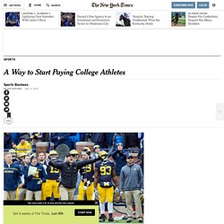 A Way to Start Paying College Athletes