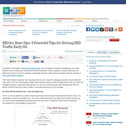 SEO for Start-Ups: 3 Powerful Tips for Driving SEO Traffic Early On
