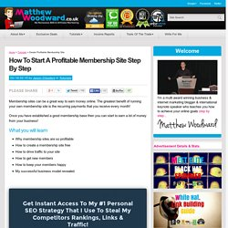 How To Start A Profitable Membership Site Step By Step