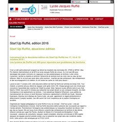 Start'Up Ruffié, edition 2016