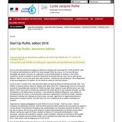 Start'Up Ruffié, edition 2016