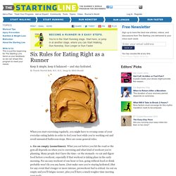 Start Running: Six Rules for Eating Right as a Runner