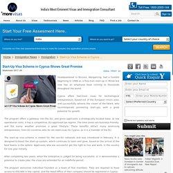 Start-Up Visa Scheme in Cyprus Shows Great Promise
